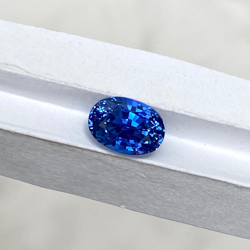 2.63 ct Blue Sapphire Oval Cut Unheated Ceylon
