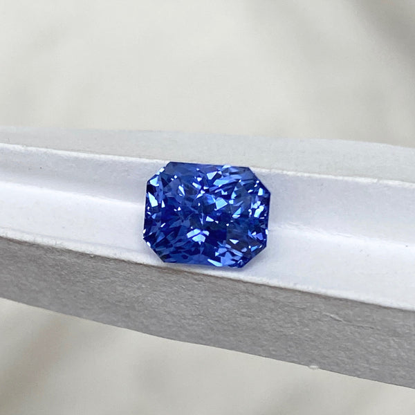 2.51 ct Cornflower Blue Sapphire Radiant Cut Unheated Ceylon