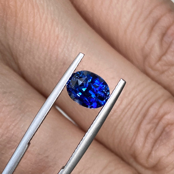 2.11 ct Royal Blue Sapphire Oval Cut Heated Ceylon RESERVED