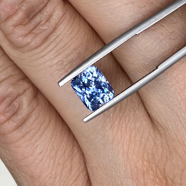 3.19 ct Blue Sapphire Cushion Cut Unheated Ceylon