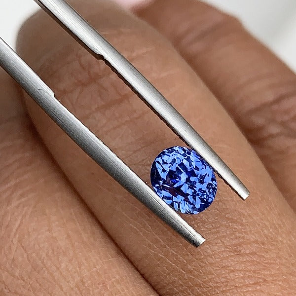 1.56 ct Medium Blue Oval Sapphire Certified Unheated