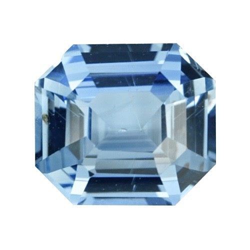 1.41 ct Emerald Cut Sky Blue Ceylon Sapphire Natural Unheated