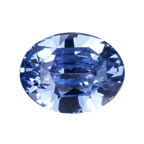 3.12 ct Oval Mixed Cut  Blue Certified Unheated