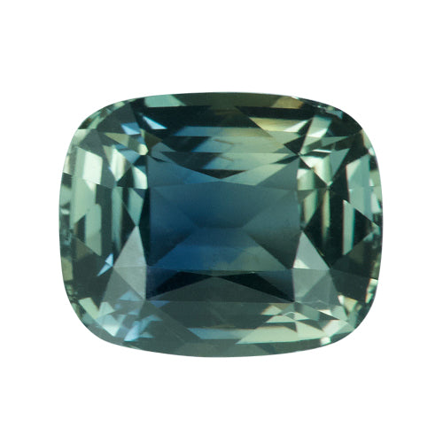 2.63 ct CushionYellowish Green Sapphire Certified Unheated