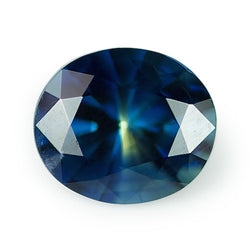 1.52 ct Bluish Green Oval Cut Natural Unheated Sapphire
