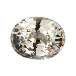 1.20 ct  Natural Champagne Peach Oval Sapphire Certified Unheated