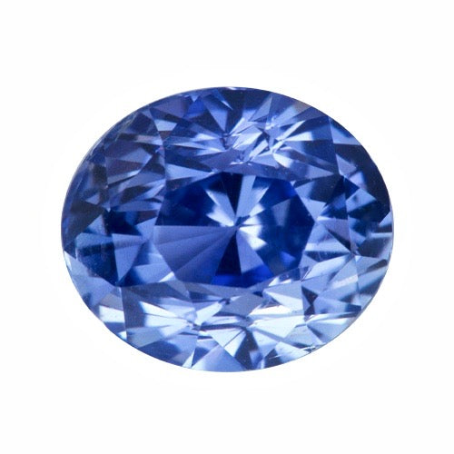 2.05 ct Cornflower Blue Sapphire Oval Certified Unheated