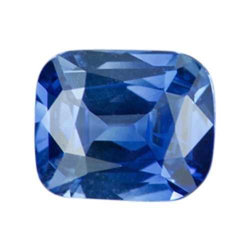 1.55 ct Cornflower Blue Bi-Colour Cushion Natural Sapphire Certified Unheated