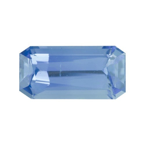 1.07 ct Emerald Cut Blue Sapphire Unheated
