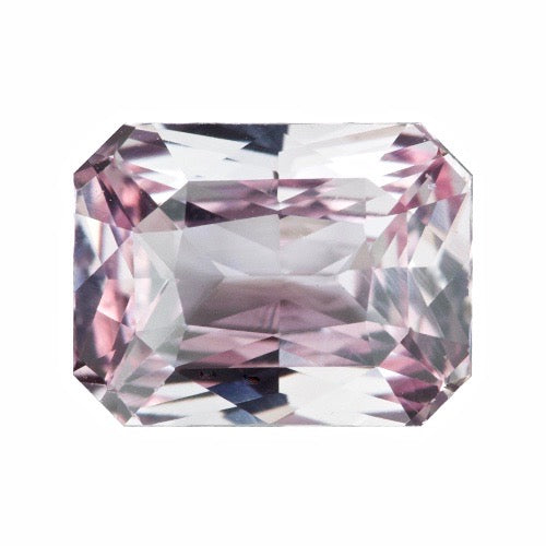 2.01 ct Radiant Cut Light Pink Sapphire Unheated Certified