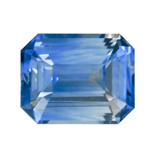 0.98 ct Blue Emerald Cut Ceylon Sapphire Unheated Certified