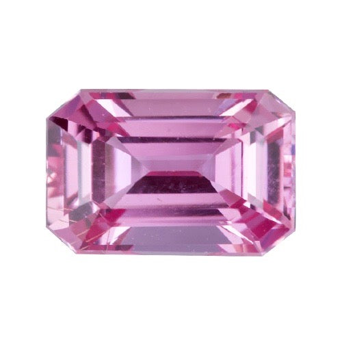 1.07 ct Pink Emerald Cut  Sapphire Certified Unheated