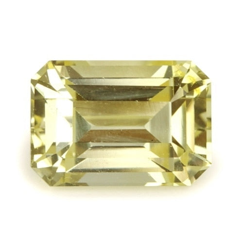 1.01 ct Yellow Emerald Cut Natural Unheated Sapphire