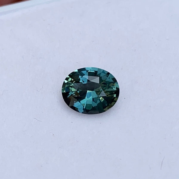 1.53 ct Oval Teal Sapphire Natural Unheated