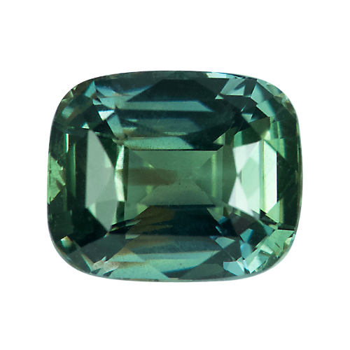 2.10 ct Cushion Green Sapphire Natural Certified