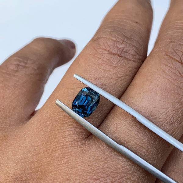 2.06 ct Teal Cushion Cut Ceylon Sapphire Certified Unheated