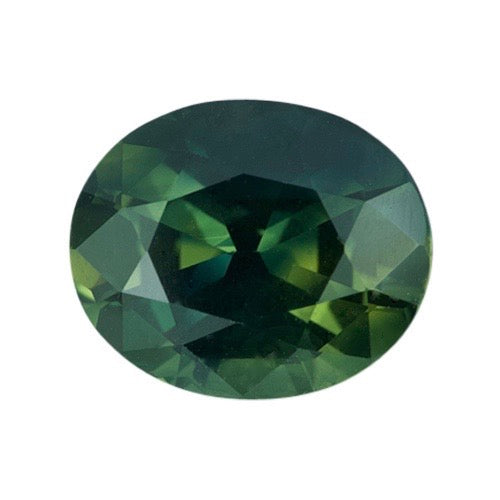 3.72 ct  Forest Green Oval Natural Sapphire