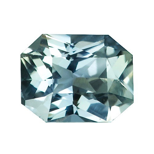 1.64 ct Light Teal Natural Sapphire Certified Unheated