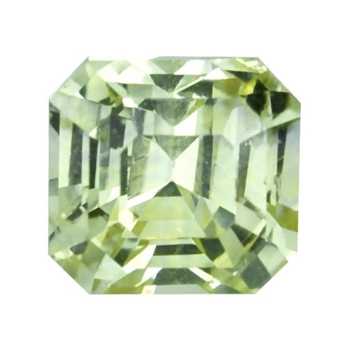 1.58 ct Yellow Green Natural Sapphire Unheated Certified