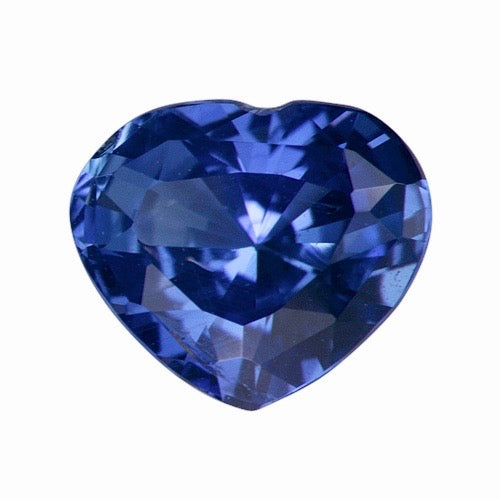 0.94 ct Heart Sapphire Violet Blue Natural Certified Unheated