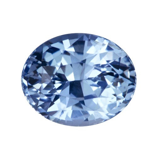 3.11 ct Oval Mixed Cut  Sky Blue Certified Unheated