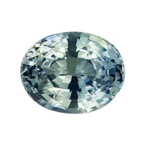 2.61 ct Blue Yellow Oval Natural Sapphire Certified Unheated