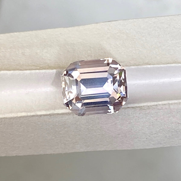 2.75  ct Grey Sapphire Emerald Cut Unheated Ceylon