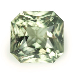 3.06 ct Yellowish Green Radiant Cut Natural Unheated Sapphire