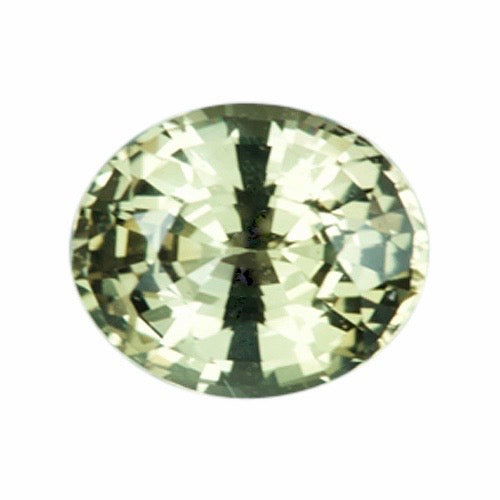 1.11 ct Oval Green Sapphire Natural Unheated Certified