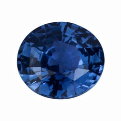 1.75 ct Steel Blue Oval Sapphire Natural Unheated
