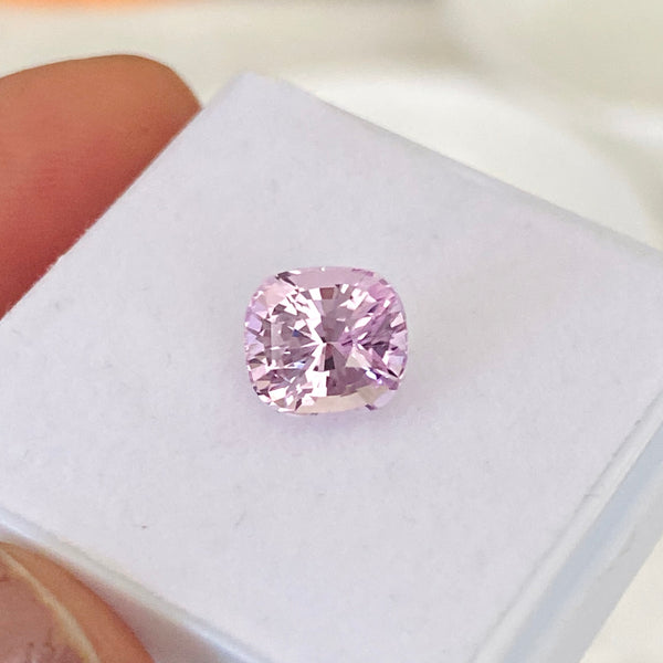 2.28 ct Cushion Pink Sapphire Certified Unheated