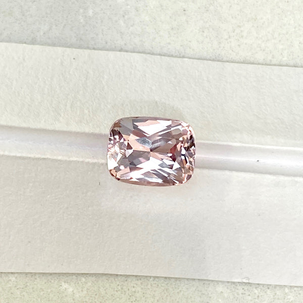 2.38 ct Peach Sapphire Cushion Unheated Ceylon