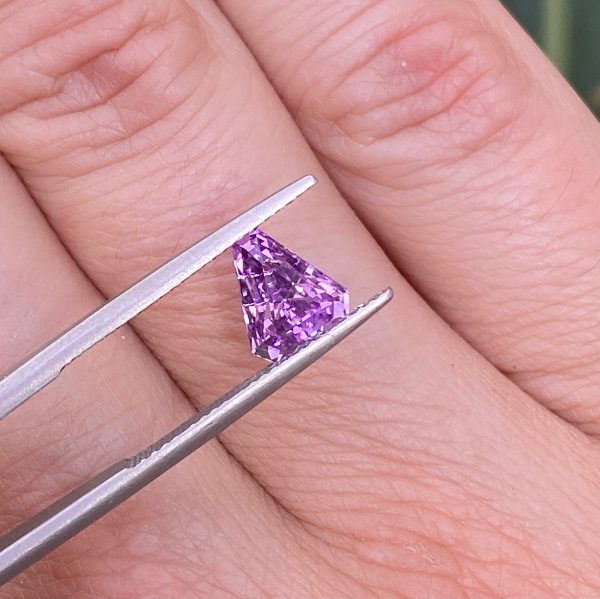 2.04 ct Purple Sapphire Fancy Cut Unheated Ceylon