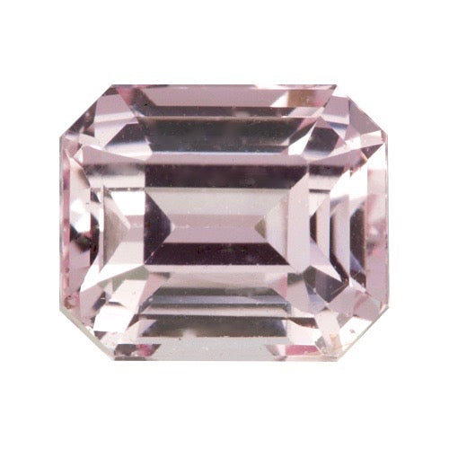 1.18 ct Peach Pink Sapphire Natural Ceylon Emerald Cut Certified Unheated