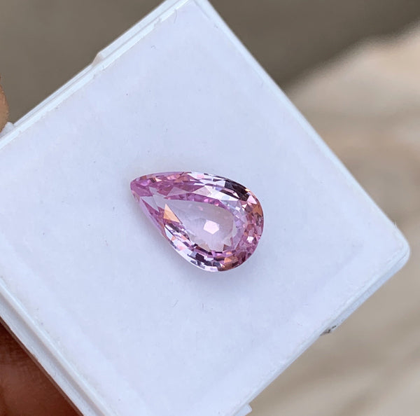 3.02 ct  Pink Pear Sapphire Natural Certified Unheated