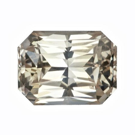 1.70 ct Peach Sapphire Radiant Cut Certified Unheated