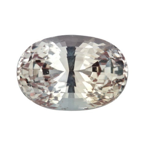 3.50 ct Oval Peach Natural Sapphire Unheated Certified