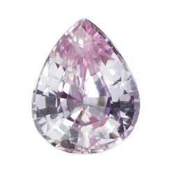 2.06 ct Pastel Pink Pear Ceylon Sapphire Natural Unheated