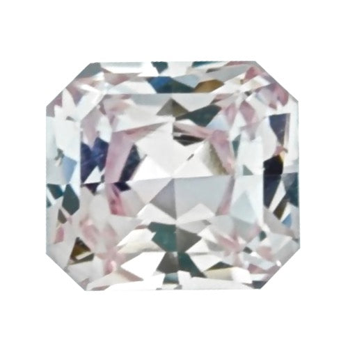 1.12 ct Square Peach Sapphire Natural Unheated Certified
