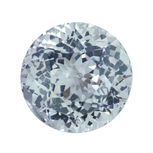 2.67	ct Light Green Grey Round Brilliant Cut Natural Unheated Sapphire