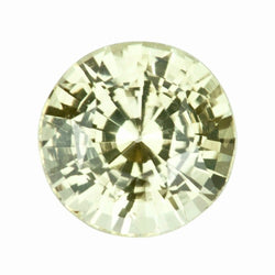 2.10 ct Round Yellow Sapphire Natural Ceylon Certified Unheated