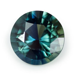 2.09 ct Bluish Green Round Cut Natural Unheated Sapphire