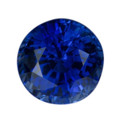 1.37 ct Round Royal Blue Natural Ceylon Sapphire Heated Certified