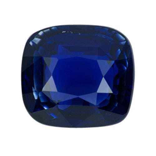 3.09 ct Ceylon Royal Blue  Cushion Natural Sapphire  Certified Unheated