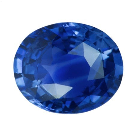 1.98 ct Vivid Cornflower Blue Oval Ceylon Sapphire Natural  Unheated