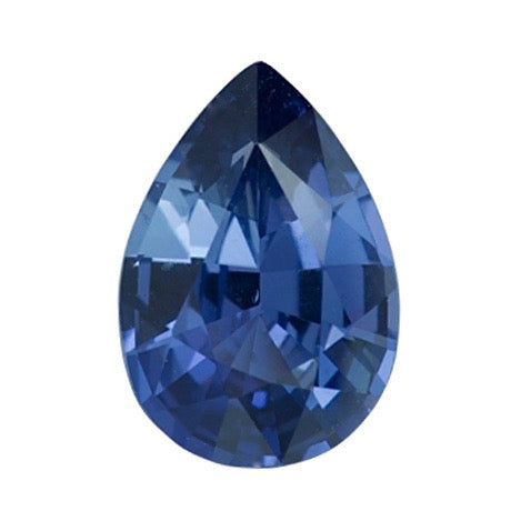 1.03 ct Pear Blue Sapphire Natural Unheated