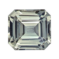 1.36 ct Square Emerald Cut Green Sapphire Natural Unheated Certified