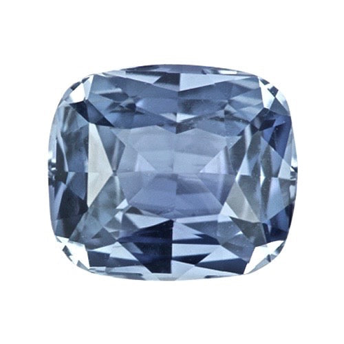 2.14 ct Steel Blue Natural Cushion Sapphire Unheated Certified