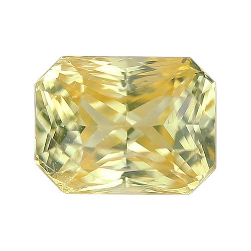 1.75 ct Vivid Yellow Radiant Cut Natural Unheated Sapphire