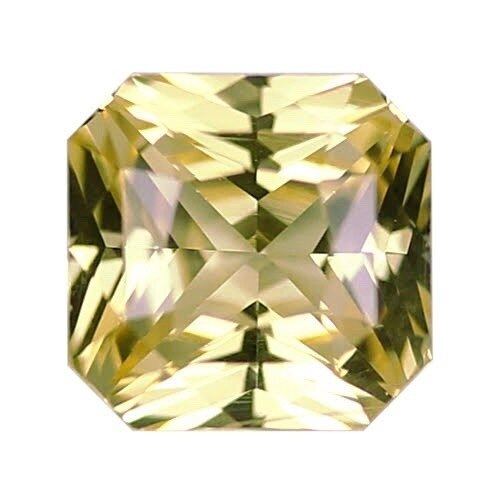 1.60 ct Vivid Yellow Square Radiant Cut Natural Unheated Sapphire